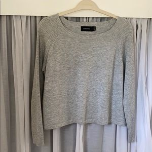 MINKPINK Grey Crop Sweater